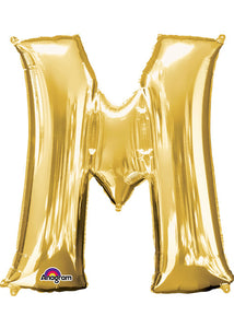 34in Gold (AN) Letter M Foil Balloon