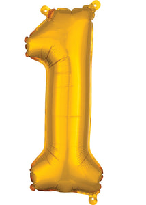 16in Gold (AN) Number 1 Foil Balloon