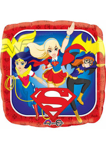 DC Super Hero Girls 18in Square Foil Balloon