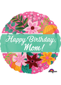 Mom - Happy Birthday Mom 18in Foil Balloon