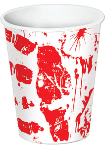 Bloody Handprints - Cups - 9oz - 8pk
