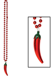 Novelty - Beads with Chili Pepper Medallion