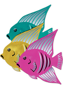 Fish - Foil Angelfish Cutout-Assorted Colours