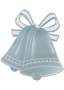 Silver Wedding Bell Silhouette-Printed Two Sides