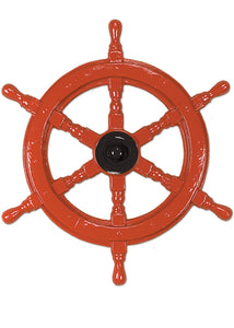 Decoration - 24in Plastic Ship Helms Wheel-Brown