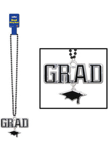 "Novelty - Beads with ""Grad"" Medallion"