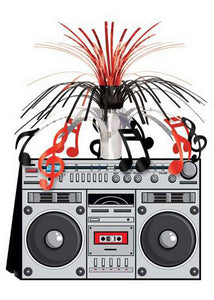 Decoration - Boom Box Centerpiece