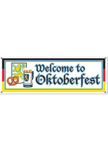 "Decoration - ""Welcome to Oktoberfest"" Sign Banner"