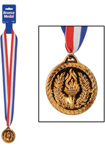Award Medal with Lanyard - Bronze 2in