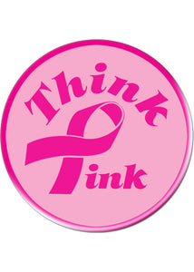"Novelty Button - Breast Cancer Button ""Think Pink"""