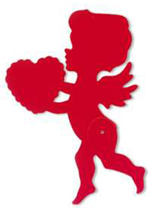 12in Red Cupid Jointed Cutout