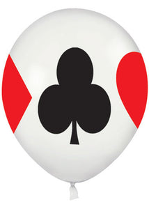 Casino - Card Suits Around 11in Latex Balloon 50pk