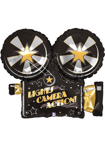 Hollywood - Lights, Camera, Action Video Camera SuperShape 32in Foil Balloon
