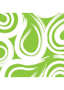 Accents - Fresh Lime - Tableware - Napkin - Beverage Swirl 16pk