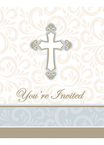 Divinity Invitations with Envelopes 8pk