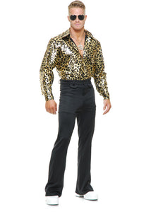 Shirt - Disco Shirt - Gold Leopard