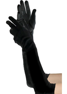 Extra Long Black Gloves