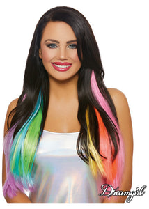 Long Straight 3 - Piece Hair Extensions - Multicolour