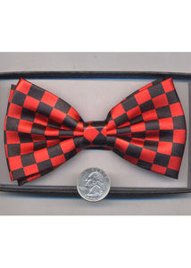 Bow Tie - Black/Red Checkered