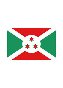 12x18in Flag On Stick-Burundi