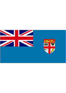 12x18in Flag On Stick-Fiji