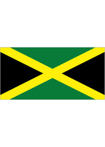 4x6in Flag On Stick-Jamaica