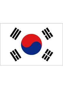 4x6in Flag On Stick-South Korea