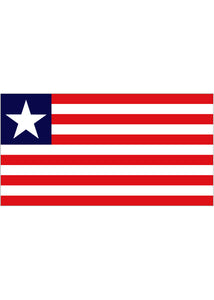 12x18in Flag On Stick-Liberia