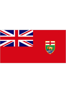 12x18in Flag On Stick-Manitoba