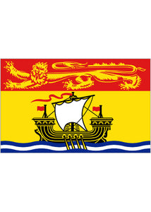 12x18in Flag On Stick-New Brunswick