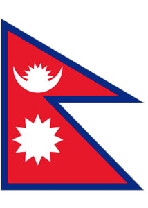 12x18in Flag On Stick-Nepal