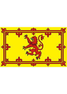 12x18in Flag On Stick - Scotland (Yellow)