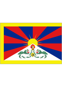 12x18in Flag On Stick-Tibet