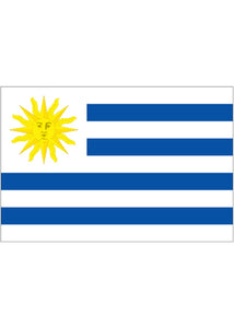 12x18in Flag On Stick-Uruguay