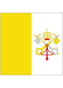12x18in Flag On Stick-Vatican City
