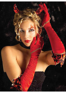 Devil Gloves - Long Elegant Devil Nylon Gloves