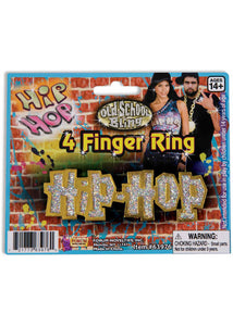 "Ring - ""Hip Hop"" 2 Finger Ring"