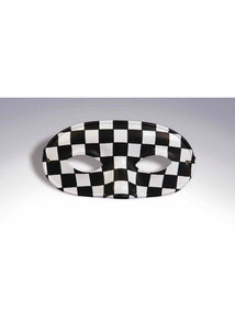 Domino - Black/White Checkered Domino Eye Mask