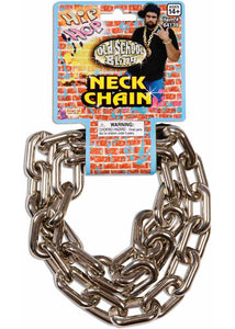 Necklace - Hip Hop Old School Big Link Chain-Silver