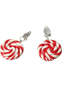 Earrings - Peppermint Swirl