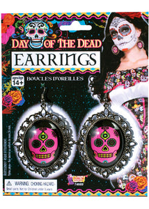 Earrings - Day Of The Dead Skull Earrings