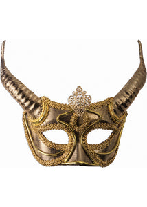 Half Mask with Horns - Gold