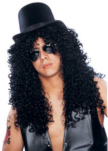 Slash - Deluxe Curly Rocker-Black