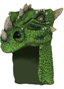 Dragon Helmet Latex Mask - Green