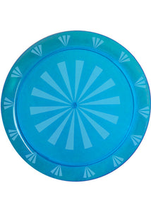 Tray - 12in Round Transpent/Etched Tray - Neon Blue