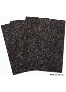 Black Placemat - EVA Foam Glitter Sheet - Large