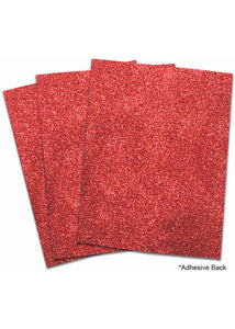 Red Placemat - EVA Foam Glitter Large Sheet - 24in