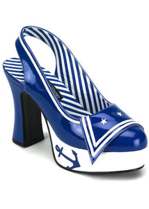 Blue Patent Sailor Shoes