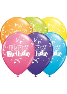 Streamers & Stars Happy Birthday Special Assorted Colours 11in Latex Balloons 50pk