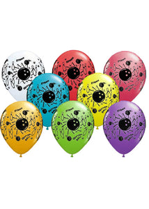 Bowling Assorted Colours 11in Latex Balloons 100pk